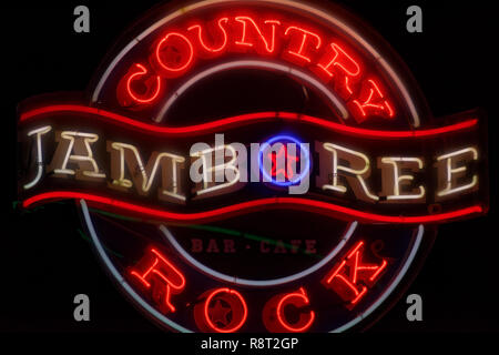 Neon sign for Jamboree Country rock café and bar in Singapore - Stock Image