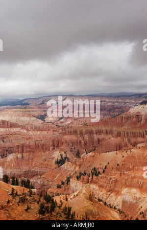 The Amphitheater at Cedar Breaks National Monument as seen from Point Supreme, Utah, USA - Stock Image