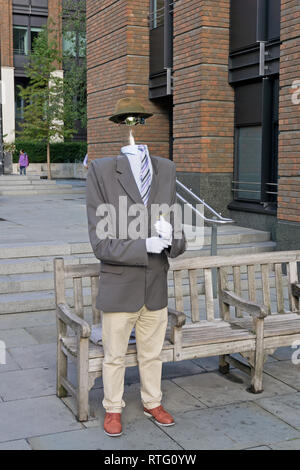 Street entertainer dressed as the Invisible Man, London, England, UK - Stock Image