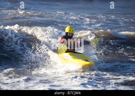 kayak in waves - Stock Image