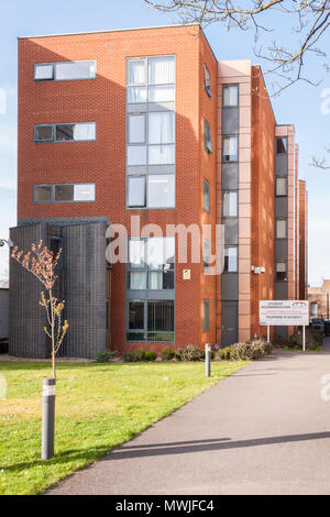 Student college and university accommodation rooms in town centre building, Reading, Berkshire, England, GB, UK - Stock Image