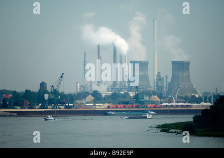 Oil Refinery Cologne Germany - Stock Image
