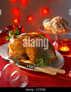 Under the Skin Stuffed Capon - Stock Image