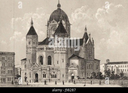Neue Synagoge in Breslau - Stock Image