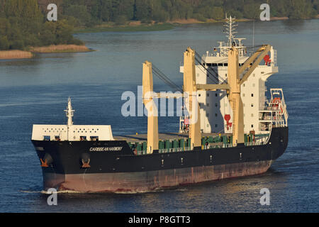 General cargo ship Caribbean Harmony - Stock Image