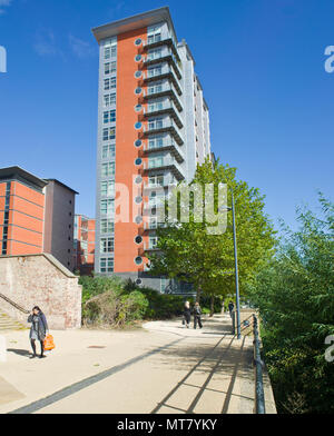 Urban High rise Block of Residental Flats and Apartments - Stock Image