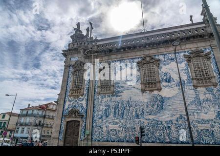 Igreja do Carmo Church in Porto , Portugal, - Stock Image