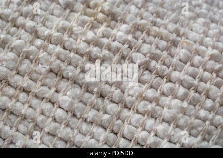 Close-up macro shot of kitchen oven cloth. - Stock Image