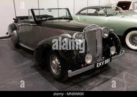 Winston Churchill's  1939  Daimler DB18 Drophead Coupe by Carlton, in the Paddock area of the 2018 London Classic Car Show - Stock Image