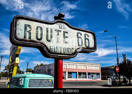 Historic Route 66 Sign - Stock Image