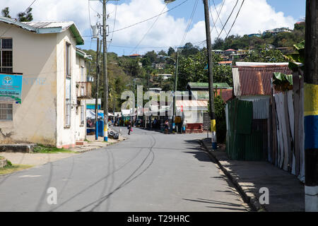 Street in St Lucia, The Caribbean - Stock Image