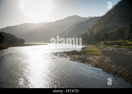 River in the mountain, Ethiopia, Africa - Stock Image