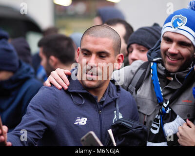 Liverpool, UK. 5th March 2017.FC Porto players in Liverpool, UK. leaving hotel.Pictured before the Champions League - Stock Image