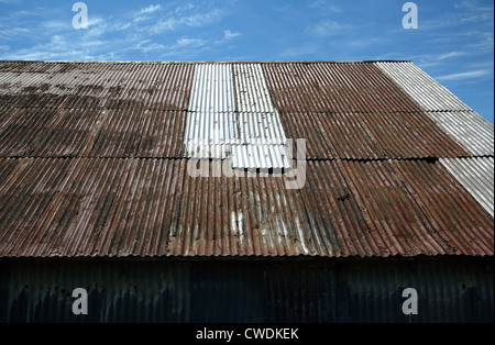 Rusty Tin Roof - Stock Image