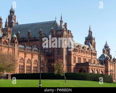 The Kelvingrove Art Gallery and Museum in Glasgow, Scotland - Stock Image