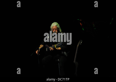Arlo Guthrie on stage, Perth,13 March, 2013 - Stock Image