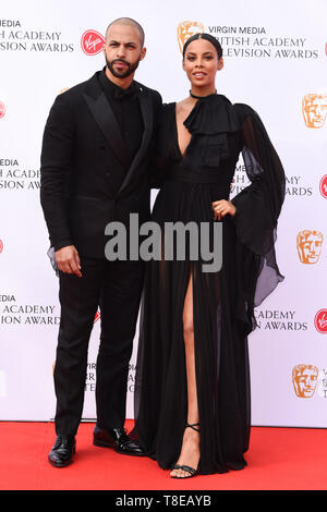 LONDON, UK. May 12, 2019: Marvin & Rochelle Humes arriving for the BAFTA TV Awards 2019 at the Royal Festival Hall, London. Picture: Steve Vas/Featureflash - Stock Image