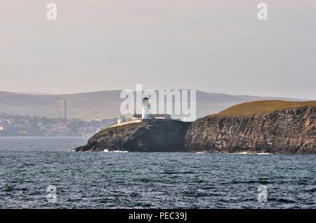 Bressay lighthouse,  Bressay Island, Shetland Islands, Scotland, UK   180701_73775 - Stock Image