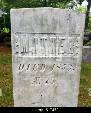 "Old tombstone ""Mother"" - Stock Image"