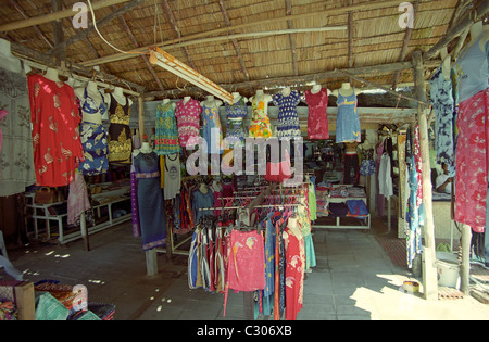 Local shop selling clothes in Phuket, Thailand - Stock Image