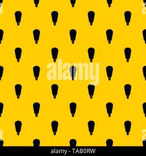 Light bulb pattern vector - Stock Image