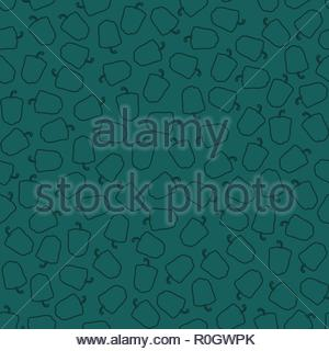 Abstract vector seamless pattern of peppers - Stock Image
