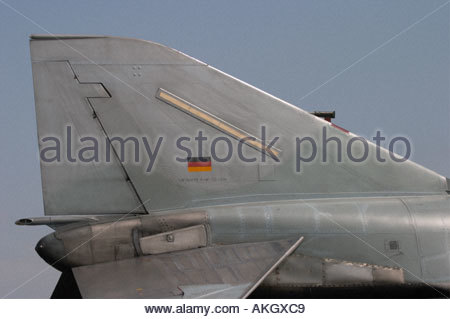 Luftwaffe Phantom tail Rivolto Italia Air show 2005 - Stock Image