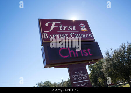 Christmas message on outdoor electronic church sign. - Stock Image
