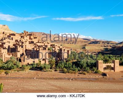 Morocco, Sous-Massa (Sous-Massa-Draa), Ouarzazate Province. Ksar of Ait Ben Haddou (Ait Benhaddou). - Stock Image