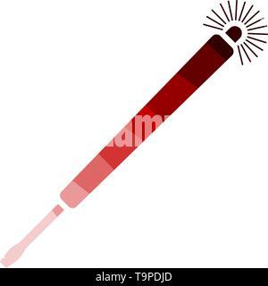 Electricity Test Screwdriver Icon. Flat Color Ladder Design. Vector Illustration. - Stock Image