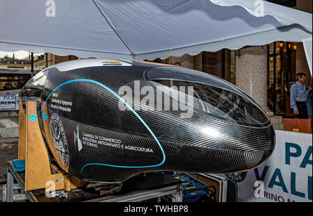 Turin, Italy. 20th Jun 2019. Turin Auto Show 2019 - Event ' The Polytechnic of Turin in dynamic action with the IDRAkronos Credit: Realy Easy Star/Alamy Live News - Stock Image