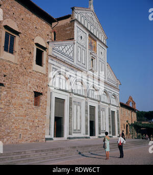 1960s, historical, exterior view from this time of the Church of San Miniado, Florence, Italy. - Stock Image