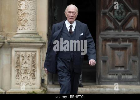ALL THE MONEY IN THE WORLD, CHRISTOPHER PLUMMER, 2017 - Stock Image