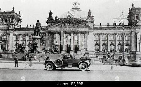 Germany Berlin The Reichstag building 1920s 1928 The German Parliament office building built in 1894 - Stock Image