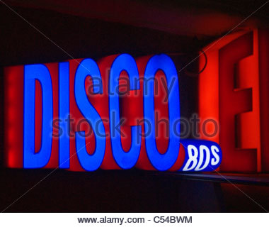 Disco sign - Stock Image