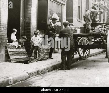 Boston Street Kids - Stock Image
