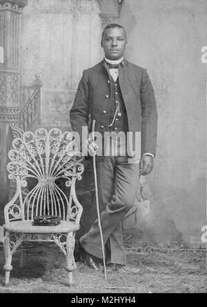 Buffalo Soldier Sharpshooter, 9th Cavalry Regiment, 1880s - Stock Image