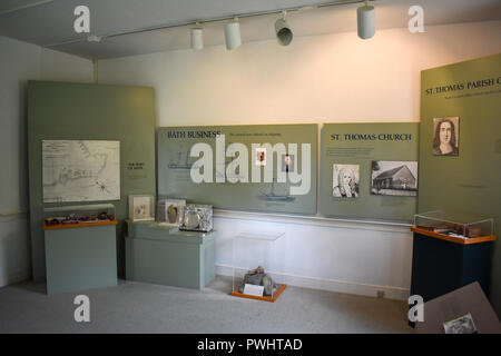 A display in the Van Der Veer House Museum showing early colonial life. - Stock Image