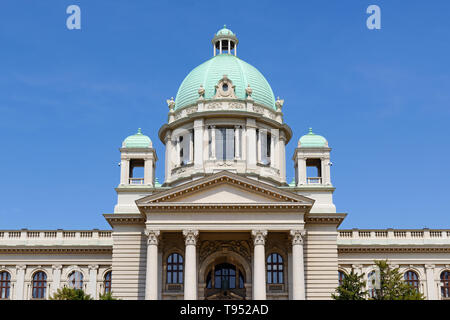 House of the National Assembly, the Serbian Parliament Building, Belgrade, Serbia - Stock Image