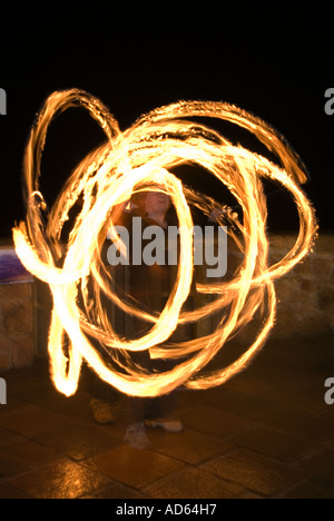 PICTURE CREDIT DOUG BLANE guggling fire - Stock Image