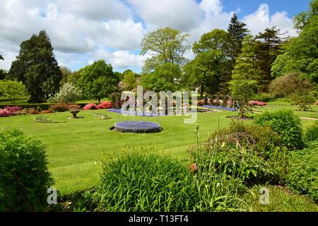 Arlington Court Victorian Garden, Devon, UK - Stock Image