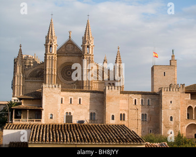 Cathedral Palma de Mallorca on Mallorca Balearic Islands Spain - Stock Image