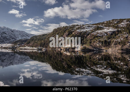 Vikanes from the Osterfjorden, Norway, from the Bergen to Mostraumen Cruise - Stock Image