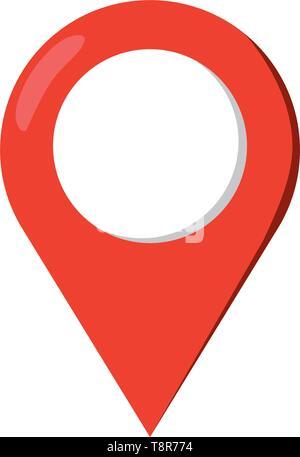 location pointer icon cartoon isolated vector illustration graphic design - Stock Image