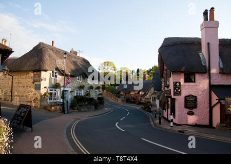 A view of Old Shanklin village on the Isle of Wight - Stock Image