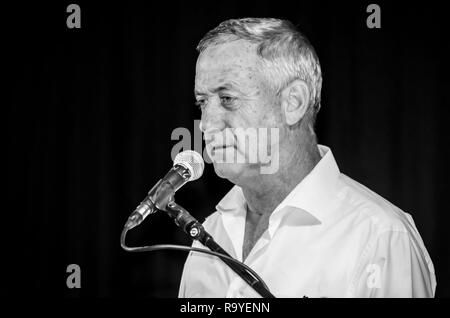 EILAT, ISRAEL. December 21, 2017. Benjamin 'Benny' Gantz, Israeli politician and the 20th Chief of General Staff of the Israel Defense Forces. - Stock Image
