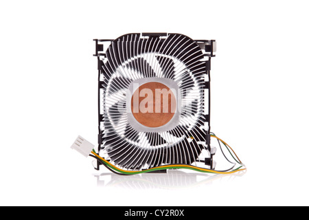 CPU Cooler isolated on a white background - Stock Image