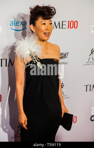 Sandra Oh attends TIME 100 GALA on April 23 in New York City - Stock Image