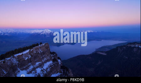 Cold morning at Niederhorn - Stock Image
