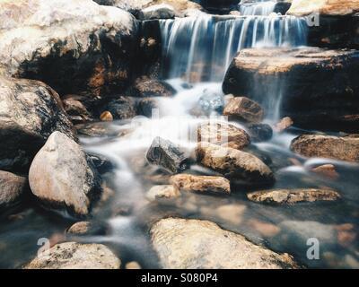 A Beautiful Waterfall - Stock Image